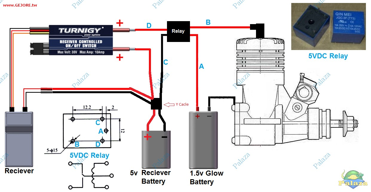 turnigy receiver controlled switch instructions